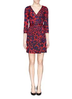 DIANE VON FURSTENBERG'New Julian Two' cheetah print silk-jersey wrap dress