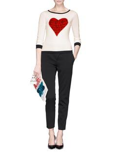 DIANE VON FURSTENBERG'Jillian' heart print sweater