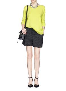 DIANE VON FURSTENBERG'Jenia' raglan sleeve cashmere sweater