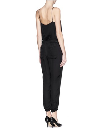 Back View - Click To Enlarge - Theory - 'Stassia' silk jumpsuit