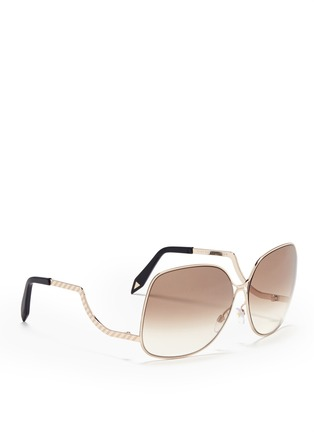 Victoria Beckham-Oversized round frame sunglasses