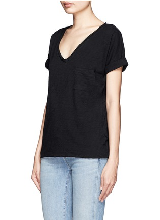 rag & bone/JEAN-V-neck pocket cotton T-shirt
