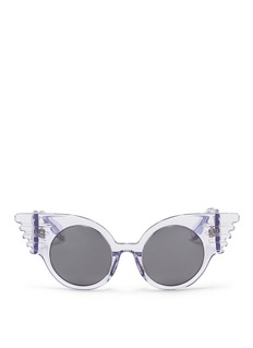 LINDA FARROW x Jeremy Scott 'Wings' acetate sunglasses