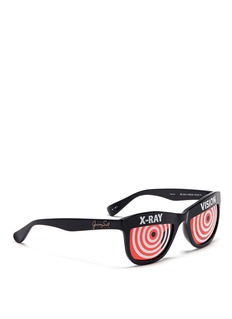 LINDA FARROW x Jeremy Scott 'Xray' acetate sunglasses