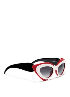 LINDA FARROW x Prabal Gurung sculptural mask layer sunglasses