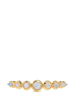 Detail View - Click To Enlarge - Eddie Borgo - Graduated opal glass cone cuff