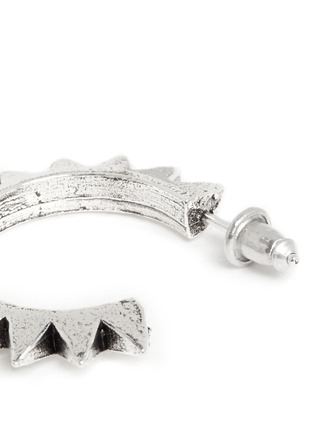 Detail View - Click To Enlarge - Philippe Audibert - 'Hose' spike hoop earrings