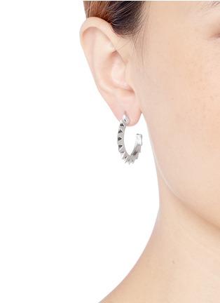 Figure View - Click To Enlarge - Philippe Audibert - 'Hose' spike hoop earrings