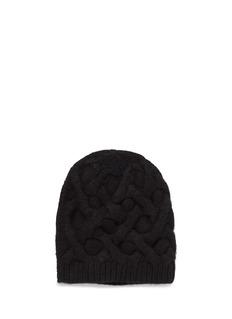 ARMAND DIRADOURIANHoneycomb cable knit cashmere beanie