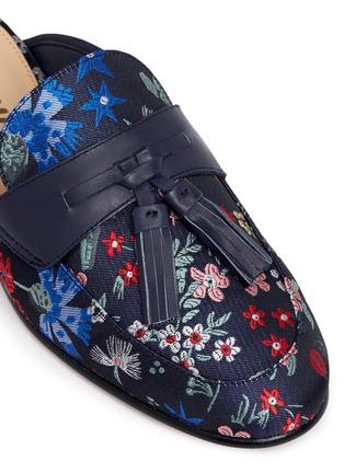Detail View - Click To Enlarge - Sam Edelman - 'Paris' tassel floral jacquard slide loafers