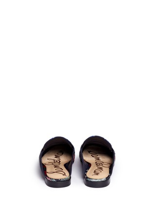 Back View - Click To Enlarge - Sam Edelman - 'Paris' tassel floral jacquard slide loafers