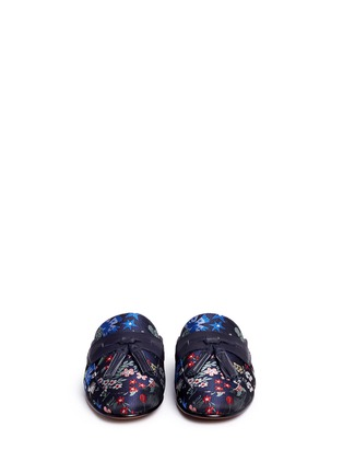Front View - Click To Enlarge - Sam Edelman - 'Paris' tassel floral jacquard slide loafers