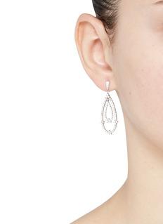 CZ by Kenneth Jay LaneCubic zirconia pavé oval drop earrings