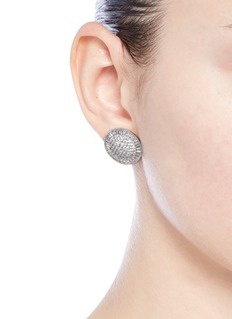CZ by Kenneth Jay LaneCubic zirconia pavé disc stud earrings