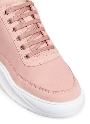 Detail View - Click To Enlarge - Filling Pieces - 'Low Top' nubuck leather sneakers