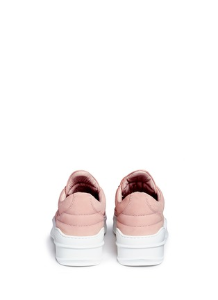 Back View - Click To Enlarge - Filling Pieces - 'Low Top' nubuck leather sneakers