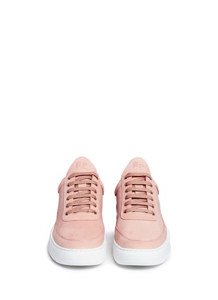 Front View - Click To Enlarge - Filling Pieces - 'Low Top' nubuck leather sneakers