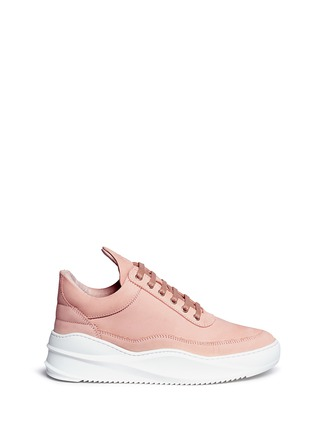 Main View - Click To Enlarge - Filling Pieces - 'Low Top' nubuck leather sneakers