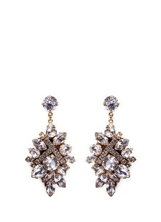 Main View - Click To Enlarge - Erickson Beamon - 'Parlor Trick' Swarovski crystal cluster drop earrings
