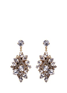 Erickson Beamon 'Parlor Trick' Swarovski crystal cluster drop earrings