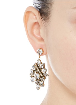 Figure View - Click To Enlarge - Erickson Beamon - 'Parlor Trick' Swarovski crystal cluster drop earrings