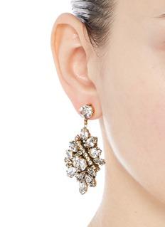 Erickson Beamon'Parlor Trick' Swarovski crystal cluster drop earrings