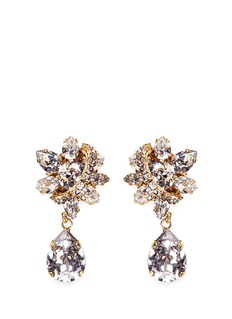Erickson Beamon 'Parlor Trick' Swarovski crystal pear drop earrings