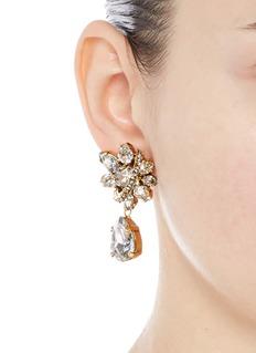 Erickson Beamon'Parlor Trick' Swarovski crystal pear drop earrings