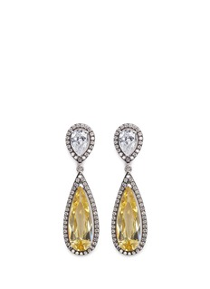 CZ by Kenneth Jay Lane Cubic zirconia teardrop earrings