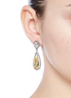 CZ by Kenneth Jay LaneCubic zirconia teardrop earrings