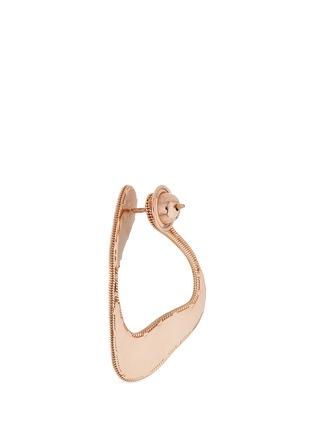 Detail View - Click To Enlarge - Fernando Jorge - 'Stream Lines' 18k rose gold loop earrings