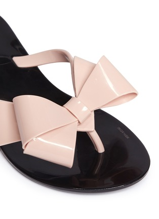 Detail View - Click To Enlarge - Melissa - 'Harmonic Bow III' kids flip flops