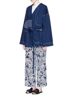 Acne Studios 'Orinda' satin patch denim kimono jacket