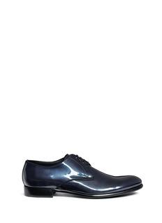DOLCE & GABBANA金属感漆皮德比鞋