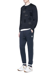 Dolce & Gabbana Crown embroidered cotton sweatpants