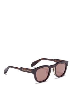 ALEXANDER MCQUEEN金属片点缀玳瑁纹太阳眼镜