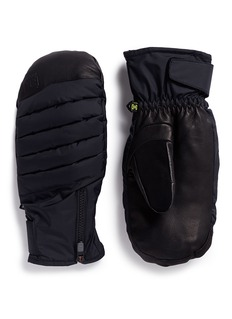 Burton 'Oven' down padded leather ski mittens