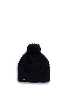 Burton'Chloe' cable knit pompom beanie