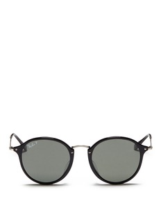 Ray-Ban 'Round Fleck' matte temple acetate round polarised sunglasses