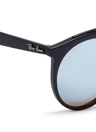 Detail View - Click To Enlarge - Ray-Ban - 'RB4256F' round mirror sunglasses