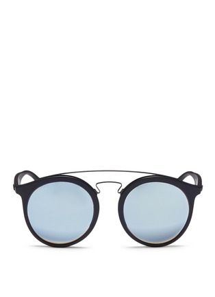 Main View - Click To Enlarge - Ray-Ban - 'RB4256F' round mirror sunglasses