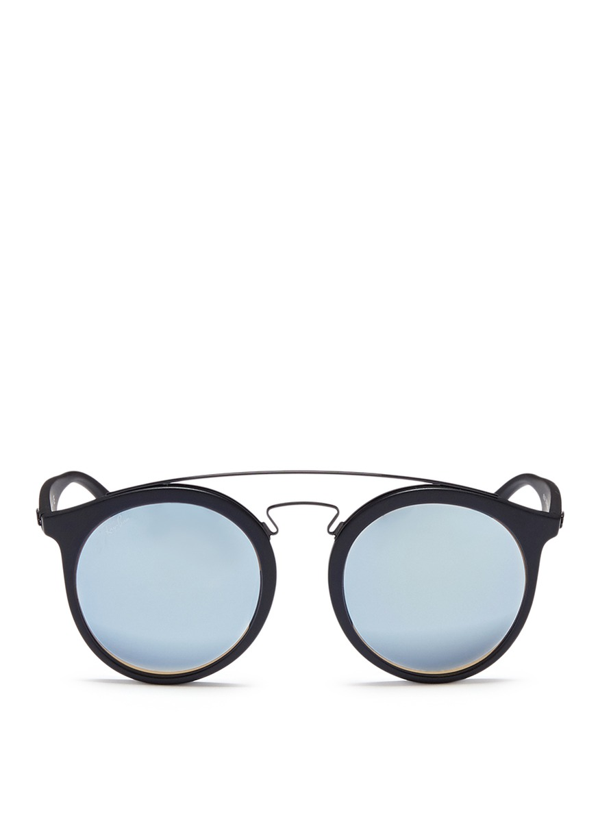 RB4256F round mirror sunglasses by Ray-Ban