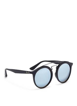 Figure View - Click To Enlarge - Ray-Ban - 'RB4256F' round mirror sunglasses