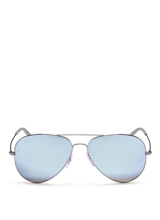 Main View - Click To Enlarge - Ray-Ban - 'RB3558' aviator mirror sunglasses