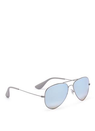 Figure View - Click To Enlarge - Ray-Ban - 'RB3558' aviator mirror sunglasses