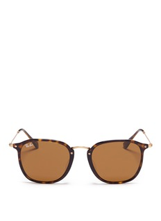 Ray-Ban 'RB2448N' matte metal temple tortoiseshell acetate sunglasses