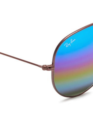 Detail View - Click To Enlarge - Ray-Ban - 'Aviator Large Metal' glitter mirror sunglasses