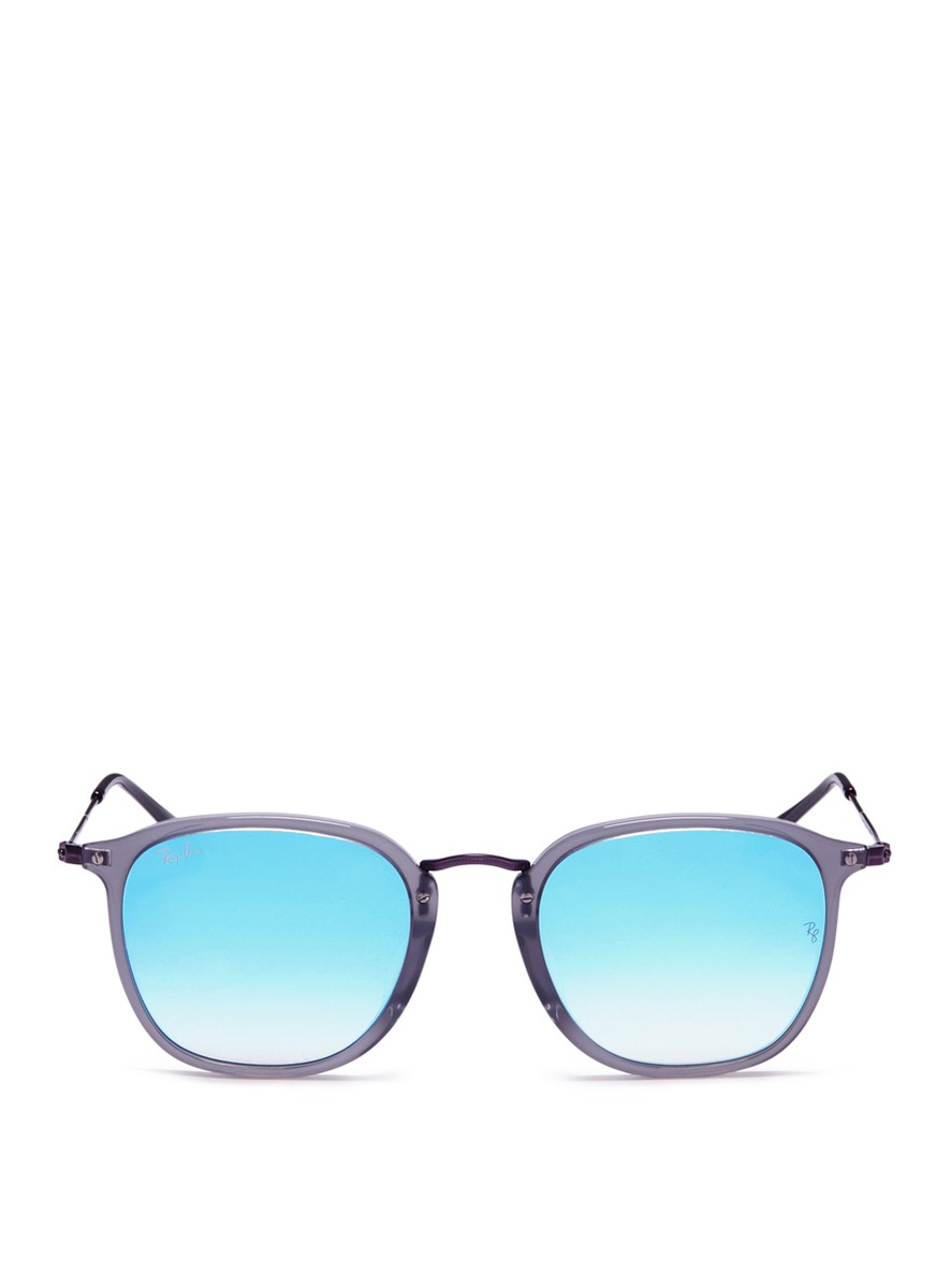 RB2448N contrast metal temple gradient mirror sunglasses by Ray-Ban