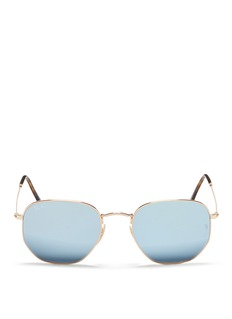 Ray-Ban 'RB3548NF' metal hexagonal mirror sunglasses