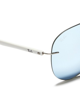 Detail View - Click To Enlarge - Ray-Ban - 'RB8058 Light Ray' frameless aviator mirror sunglasses
